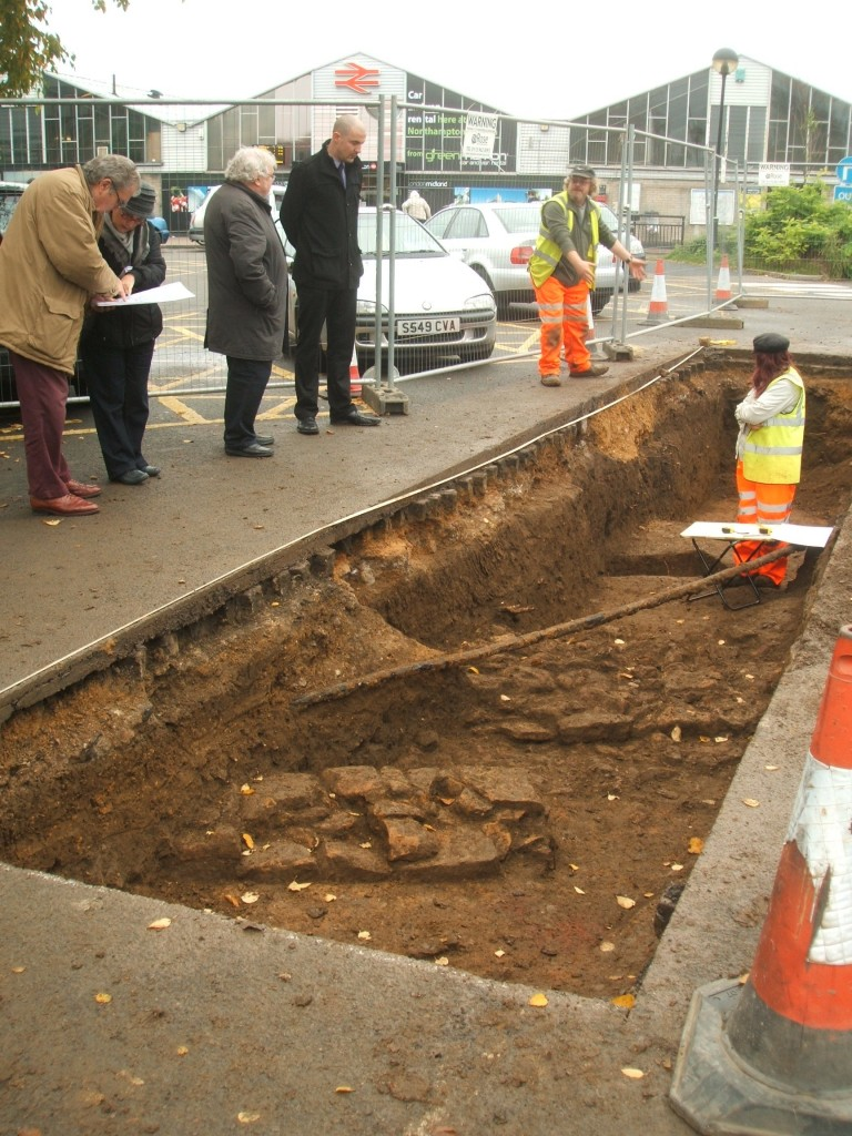 Evaluation Trench With Station in background