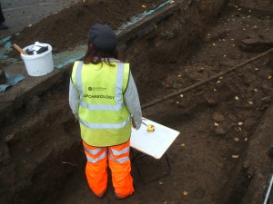 An Archaeologist in the trench