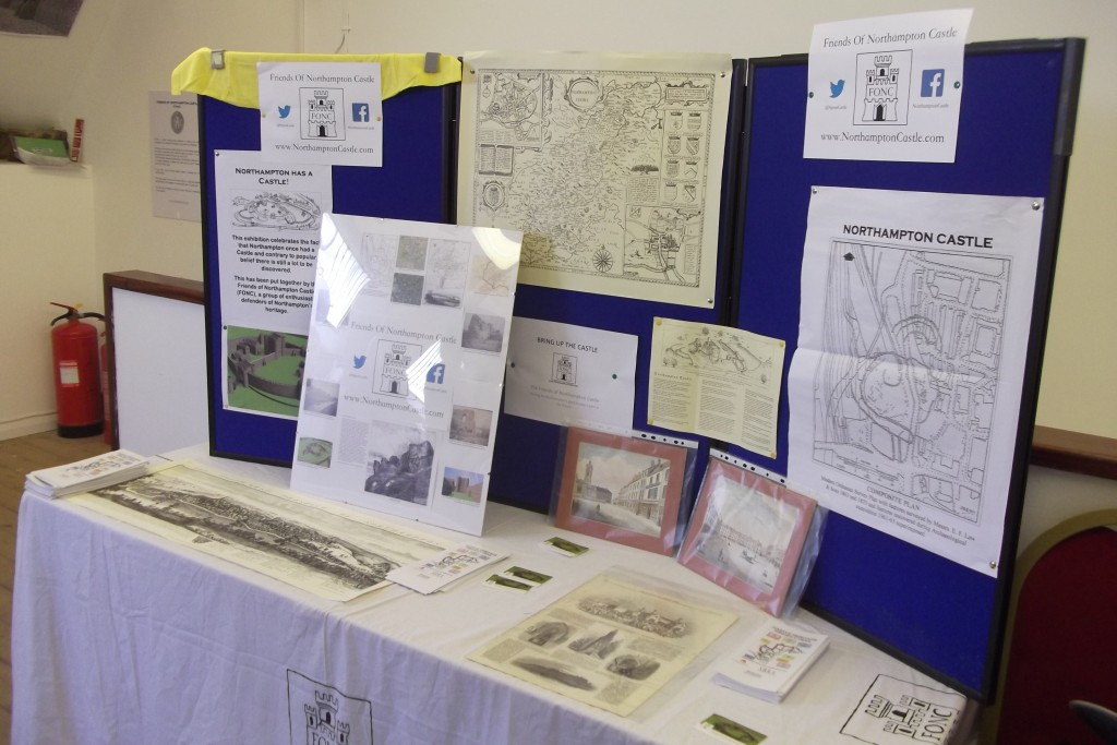 FONC Information Stand with maps and photographs of the castle